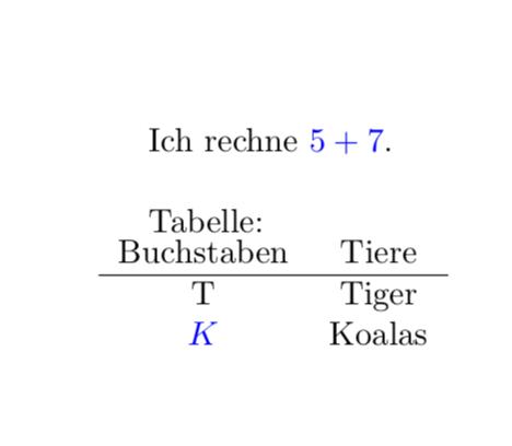 Everymath Und Tabellen Latex Und Tex Welt