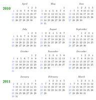 Kalender mit Layout-Anpassungen