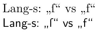 Ergebnis mit babel shortcut/shorthand