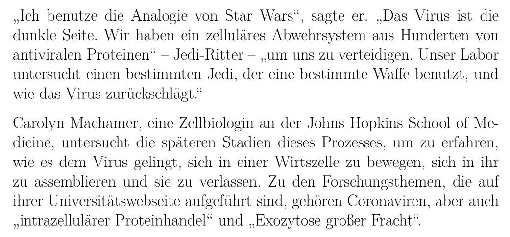 """""""Ich benutze die Analogie von Star Wars"""", sagte er."""