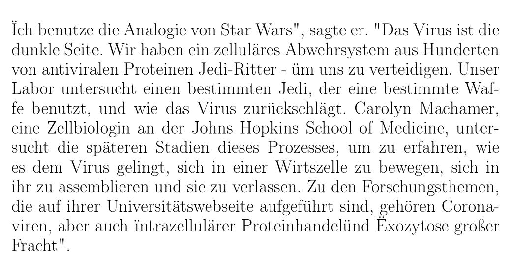 """Ïch benutze die Analogie von Star Wars"""""""