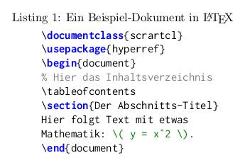 Beispiel-Listing Ausgabe