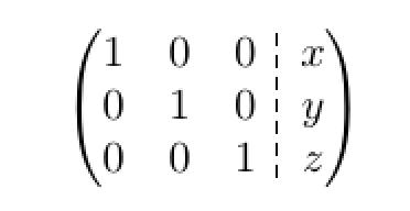 Matrix mit Linie