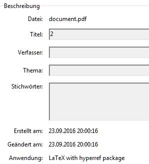 PDF-Informationen