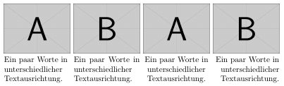 unterschiedliche Textausrichtung
