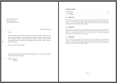 Zwei Seiten des Briefes