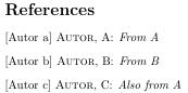 Ein Verzeichnis aus zwei Literaturdatenbanken