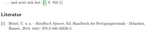 Zitat und Literaturverzeichnis