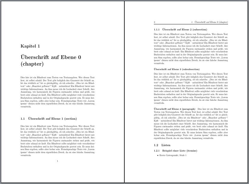 Kapitelanfangsseite und erste Folgeseite