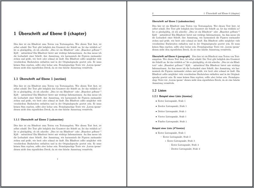 Kapitelanfangsseite und Folgeseite mit scrbook