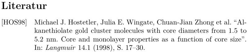 """Ergebnis mit drei Autoren und """"et al."""""""