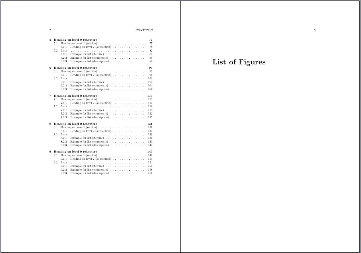 zweite Seite Inhaltsverzeichnis + erste Seite Abbildungsverzeichnis