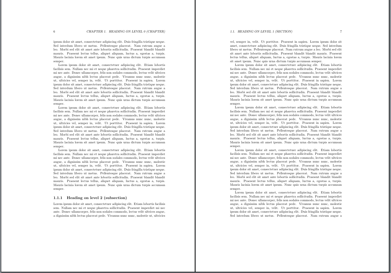 Doppelseite im Kapitel