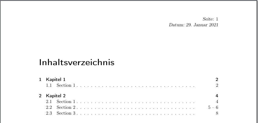 falscher manueller Seitenbereits für Abschnitt »2.2 Section 2«