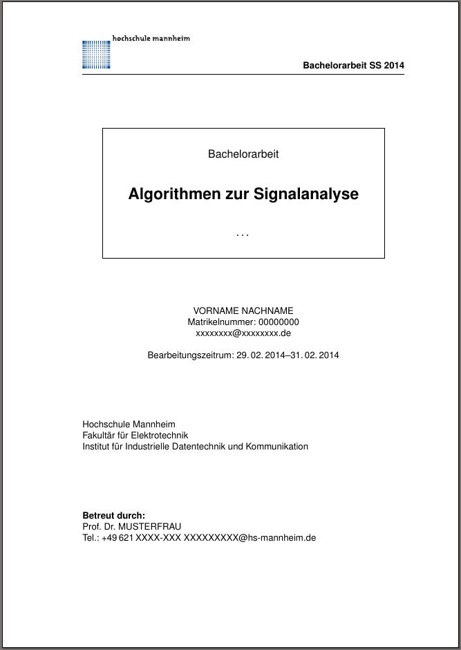 latex dissertation vorlage
