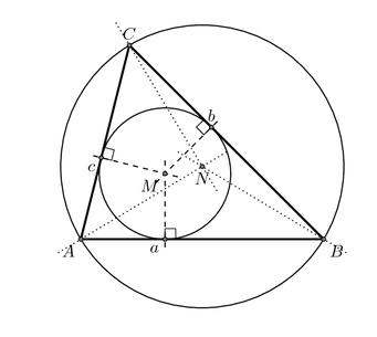 Dreieck und Kreise